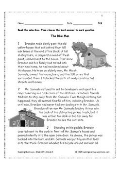 Reading Warm-ups - Blasts! #5 - Grade 5
