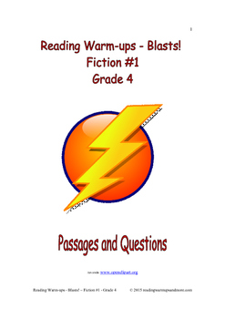 Reading Warm-ups - Blasts! Fiction #1 - Grade 4