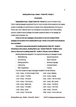 Reading Warm-ups - Blasts! Fiction #2 - Grade 3