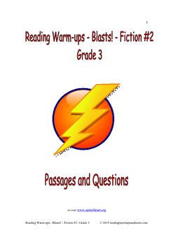 Reading Warm-ups - Blasts! Fiction #2 - Grade 3
