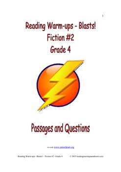 Reading Warm-ups - Blasts! Fiction #2 - Grade 4