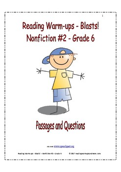 Reading Warm-ups - Blasts! - Nonfiction #2 - Grade 6 - Passages and Questions