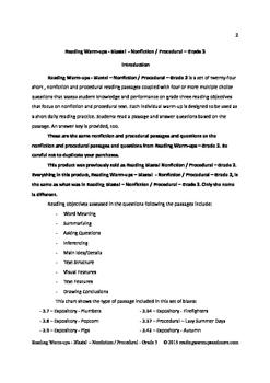 Reading Warm-ups - Blasts! Nonfiction / Procedural - Grade 3