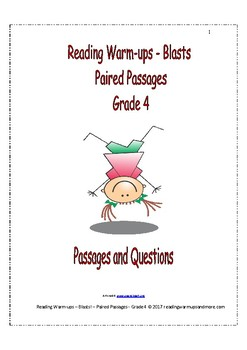 Reading Warm-ups - Blasts! - Paired Passages - Passages and Questions - Grade 4