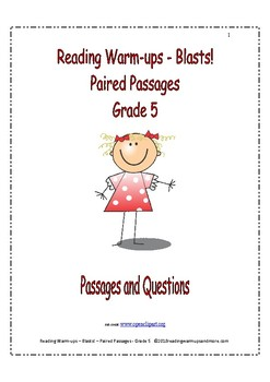 Reading Warm-ups - Blasts! - Paired Passages - Passages and Questions - Grade 5
