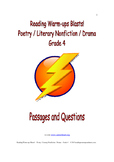 Reading Warm-ups - Blasts! Poetry / Literary Nonfiction /