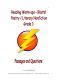 Reading Warm-ups - Blasts! Poetry /Literary Nonfiction - Grade 3