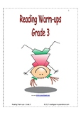 Reading Warm-ups - Grade 3