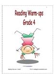 Reading Warm-ups - Grade 4