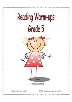 Reading Warm-ups - Grade 5