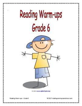 Reading Warm-ups - Grade 6