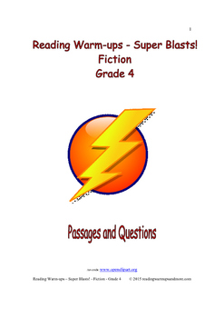 Reading Warm-ups - Super Blasts! Fiction - Grade 4