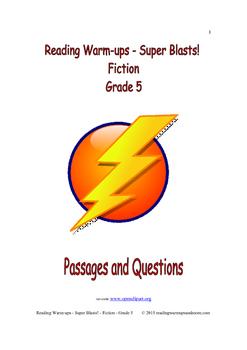 Reading Warm-ups - Super Blasts! Fiction - Grade 5