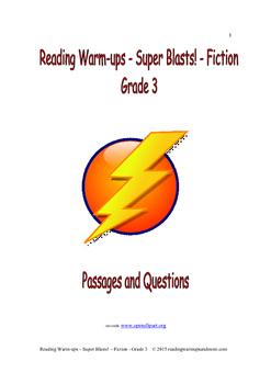 Reading Warm-ups - Super Blasts! Fiction - Grade 3
