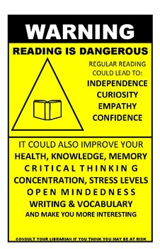 Reading Warning Poster