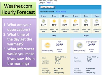 Reading Weather Reports - Lesson Presentation, Skeleton Notes, Quiz...