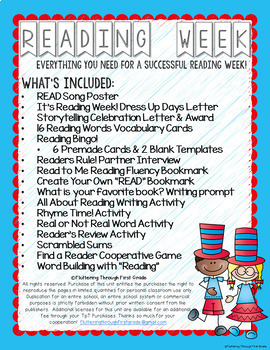 Reading Week - Print and Go Activities to Celebrate Reading
