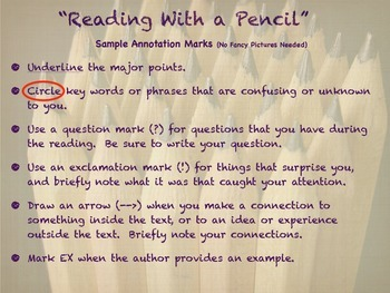 Reading With A Pencil- Annotation Poster