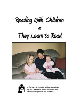 Reading With Children as They Learn to Read:  A Printable Parent Handout