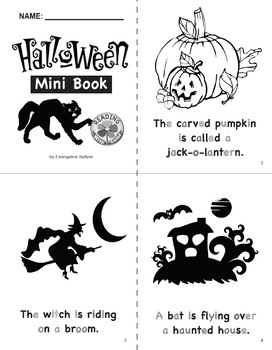 Reading With Color: FREE Halloween Mini Book With Phonics Activities