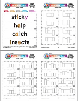 Reading With Color: Phonics Games & Word Cards About Frogs