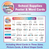 Reading With Color: School Supplies Poster & Word Cards