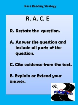 Reading With R.A.C.E Strategy...common core