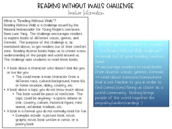 Reading Without Walls Challenge Materials