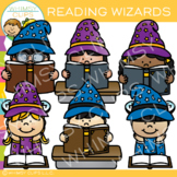Wizards Reading Clip Art