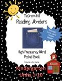 Reading Wonder High Frequency Word Pocket ( sticker) Book for Kindergarten