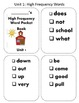 Reading Wonder High Frequency Word Pocket ( sticker) Books for First Grade