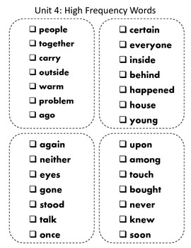 Reading Wonders High Frequency Word Pocket ( sticker) books Second Grade