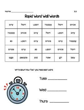 Reading Wonder Rapid Words Unit 3