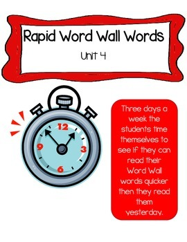 Reading Wonder Rapid Words Unit 4