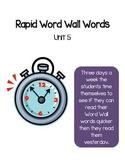 Reading Wonder Rapid Words Unit 5