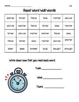 Reading Wonder Rapid Words Unit 6