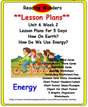 Reading Wonders Unit 6 Week 2 Lesson Plan