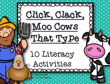 Reading Wonders 1st  Click Clack Moo Cows That Type {10 Literacy Activities}