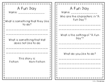 Reading Wonders 1st Grade Leveled Reader Handouts Unit 1