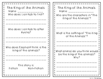 Reading Wonders 1st Grade Leveled Reader Handouts Unit 4
