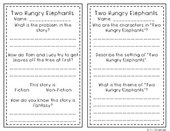 Reading Wonders 1st Grade Leveled Reader Handouts Unit 6