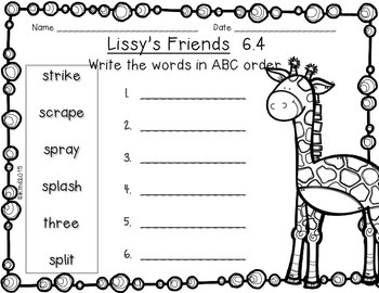 Reading Wonders 1st Grade Lissy's Friends 6.4 {10 Literacy Activities}