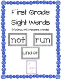 Reading Wonders 1st Grade Sight Words