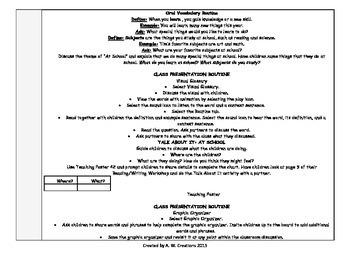 McGraw-Hill Reading Wonders 1st Grade UNIT 1 WEEKS 1-6 Whole Group Plans BUNDLE