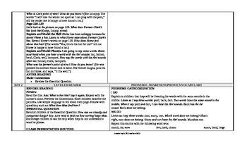Reading Wonders 1st Grade UNIT 5 ELL Small Group Plans