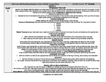 Reading Wonders 1st Grade UNIT 5 WEEK 6 Whole Group Plans