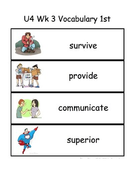 Reading Wonders 1st Grade Vocabulary & high frequency words - Unit 4 Week 3