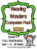 Reading Wonders 2020 Companion Pack Grade 2 FULL YEAR BUNDLE