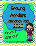 Reading Wonders 2020 Companion Pack Grade 3 UNIT ONE BUNDLE