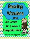 Reading Wonders 2020 Companion Pack Grade 3, Unit 1, Week 1